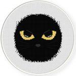 Cat Eyes Cross Stitch Illustration