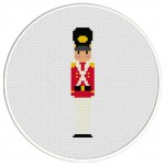 Christmas Toy Soldier Cross Stitch Illustration