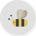 Cute Bee Cross Stitch Illustration