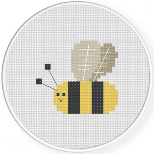 Cute Bee Cross Stitch Illustration