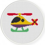 Cute Helicopter Cross Stitch Illustration