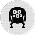 Eye Monster Cross Stitch Illustration