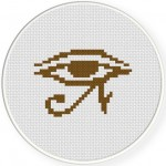 Eye Of Osiris Cross Stitch Illustration