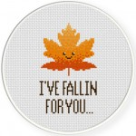 Fallin For You Cross Stitch Illustration