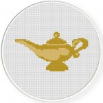 Genie Magic Lamp Cross Stitch Illustration