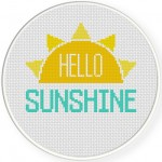 Hello Sunshine Cross Stitch Illustration