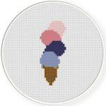 Ice Creams Cross Stitch Illustration