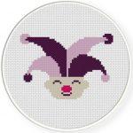 Joker Jester Cross Stitch Illustration