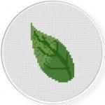 Leaf Cross Stitch Illustration