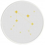 Libra Constellation Cross Stitch Illustration