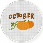 October Cross Stitch Illustration