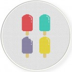 Popsicles Cross Stitch Illustration