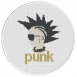 Punk Cross Stitch Illustration