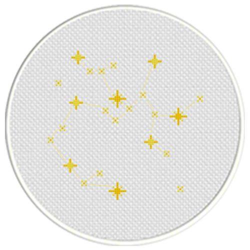 Sagittarius Constellation Cross Stitch Illustration