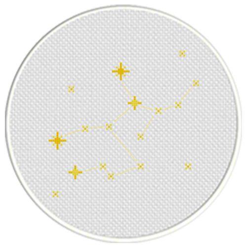 Virgo Constellation Cross Stitch Illustration
