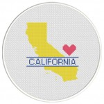 California Love Cross Stitch Illustration
