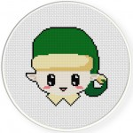 Cute Elf Cross Stitch Illustration