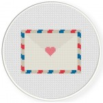 Love Letter Mail Cross Stitch Illustration