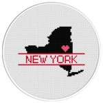 New York Love Cross Stitch Illustration
