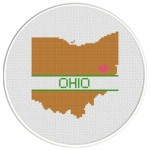 Ohio Love Cross Stitch Illustration