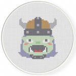 Orc Girl Cross Stitch Illustration
