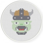Orc Guy Cross Stitch Illustration