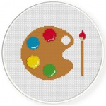 Paint Palette Cross Stitch Illustration