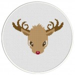 Reindeer Cross Stitch Illustration