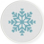 Snow Flake Cross Stitch Illustration