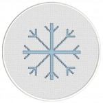 Snowflake Cross Stitch Illustration
