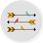 Arrows And Birds Cross Stitch Illustration