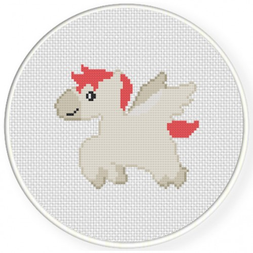 Baby Pegasus Cross Stitch Illustration
