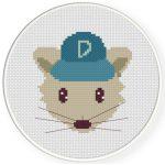 Boy Mouse Cross Stitch Illustration