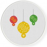 Christmas Ball Ornaments Cross Stitch Illustration