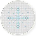Christmas Snowflake Cross Stitch Illustration