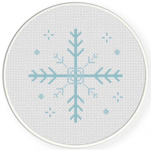 Christmas Snowflake Cross Stitch Illustration