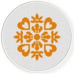 Damask Design Pattern 04 Cross Stitch Illustration