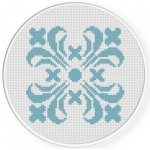 Damask Design Pattern 06 Cross Stitch Illustration