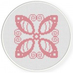 Flower Damask Cross Stitch Illustration