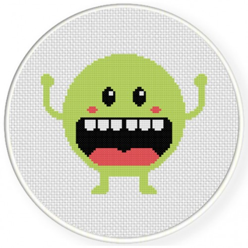 Im Happy Cross Stitch Illustration