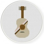 Mexican Guitar Cross Stitch Illustration