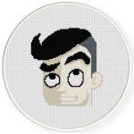 New Haircut Boy Cross Stitch Illustration