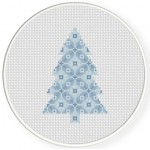 Pattern Tree Cross Stitch Illustration
