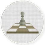 Pawn Cross Stitch Illustration