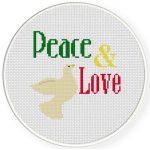 Peace And Love Cross Stitch Illustration