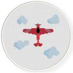 Plane Cross Stitch Illustration