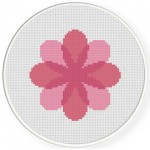 Pretty Pink Petals Cross Stitch Illustration