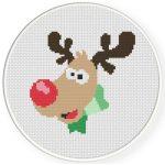 Rudolph Cross Stitch Illustration