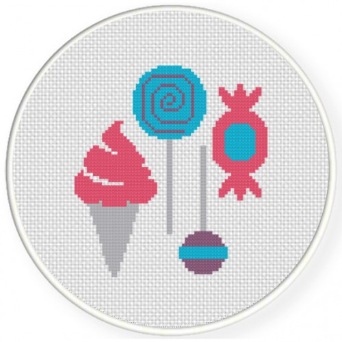 Sugar Rush Cross Stitch Illustration