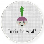 Turnip For What Cross Stitch Illustration